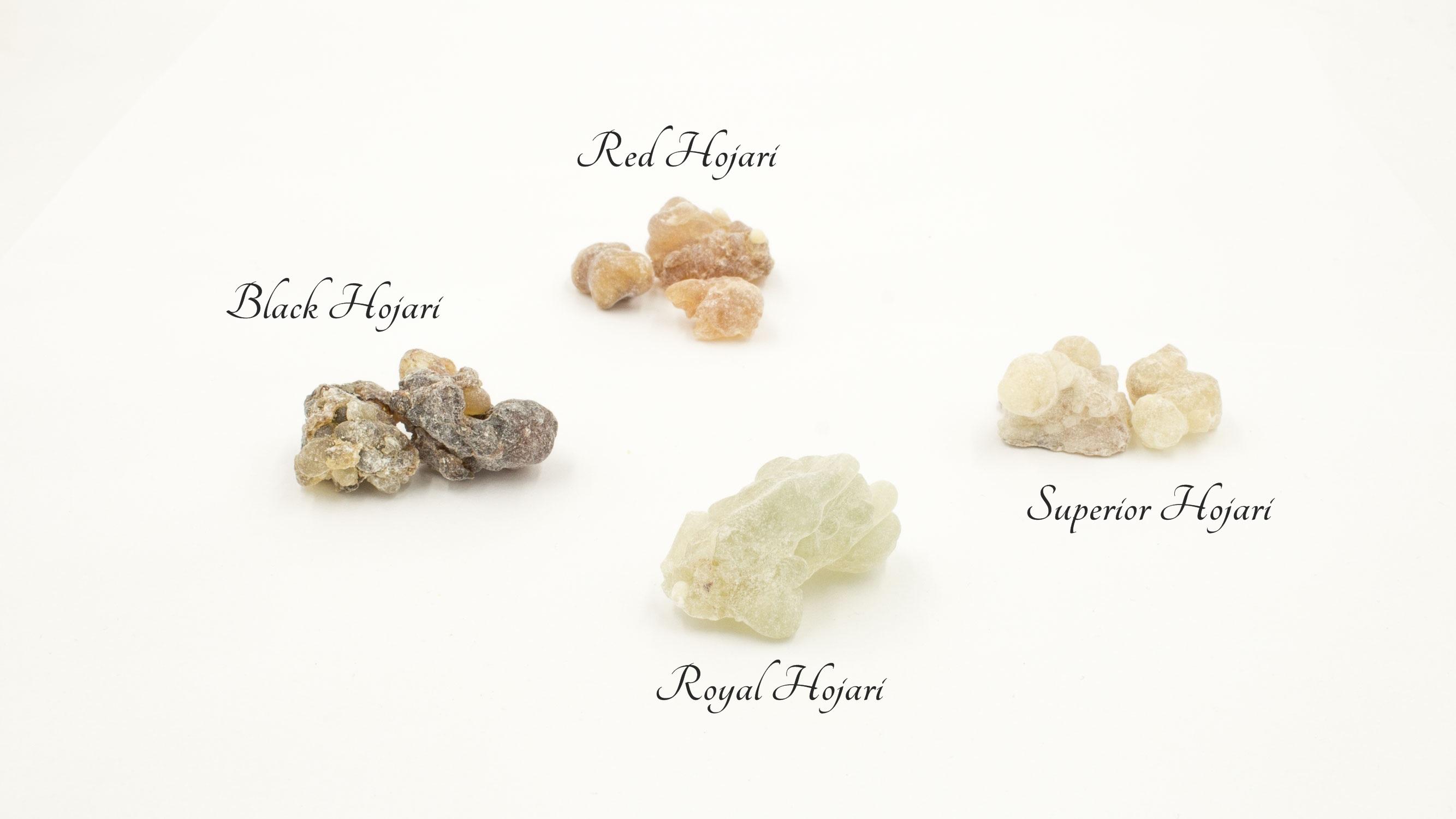 Weihrauch aus Oman Probeset 4 Sorten - pro Sorte 7g